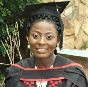 Olivia Agbenyeke graduated from the University of Ghana over the weekend as medical doctor