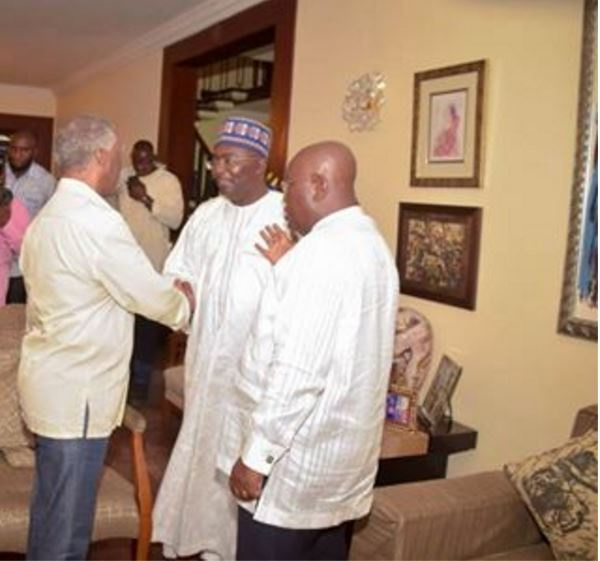 South African former president, Thabo Mbeki interacts with Nana Akufo-Addo and Dr. Bawumia.