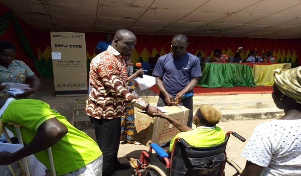 Persons with disability receive funds to support business ventures