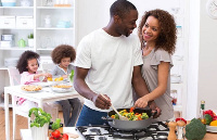 Men who cook at home provide relief for the wives