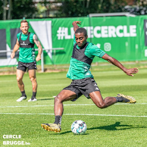Ghanaian youngster Dennis Gyamfi is in Belgium for trials