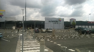 Front view of the Achimota Mall