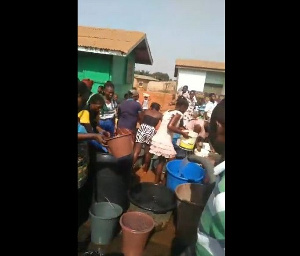 Residents of Ningo-Prampram have for about a month been experiencing a major water shortage