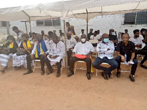 A delegation from Hearts of Oak at the funeral