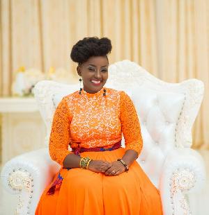 Annica Nsiah-Apau, the wife of rap artiste Okyeame Kwame