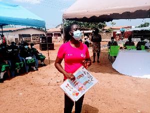 Over 200 adolescents were taught menstrual hygiene