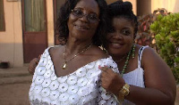 Grace Nortey (L) graced the screens in the 1990s