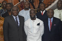 Stephen Appiah with MPs