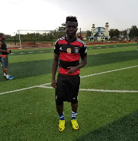 Justice Salasi Oko collapsed when training with the team in Zambia