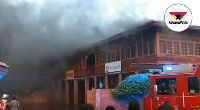 The fire burnt the GN Bank and two TV stations on the premises of the Coconut Groove Regency Hotel.