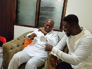 John Dramani Mahama with A Plus