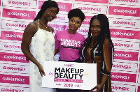 Rebecca Donkor flanked by Kate Menson and Dentaa at the ceremony