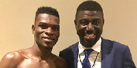 Richard Commey with the MD of Streetwise Management, Michael Amoo-Bediako