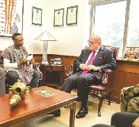 Dogboe in a hearty chat with the United States Ambassador Jackson