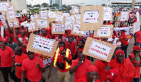 The groups marched through some principal streets of Accra to register their displeasure