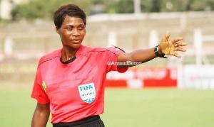 Togolese referee, Vincentia Enyonam Amedome