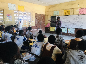Assemblyman for the Alajo North Electoral Area, Hon Ibrahim Halidu visited some schools in his area