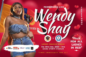 Wendy Shay will perform during half time