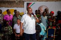 John Mahama campaigns in the Ledzokuku Constituency