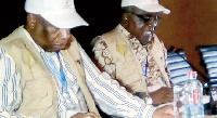 Hifikepunye Pohamba (left) Head of AUEOM, former president of the Republic of Namibia