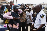 Police and media personnel rushed to the offices of Royal Motors Limited after robbery incident