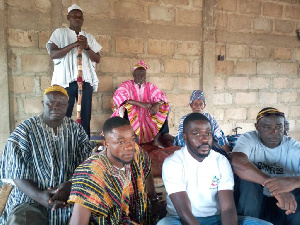 Some members of Ghana National Household Registry with the Bolewura