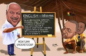 The author believes John Mahama outwitted them with an idiom
