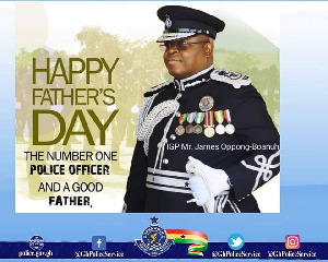 Ghana Police Service made a post celebrating James Oppong-Boanuh on Father's Day