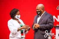 John Mahama with his running mate Prof. Naana Jane Opoku-Agyemang