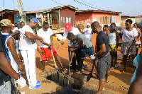 Residents Nungua clean up environs ahead of Kplejoo Homowo Festival