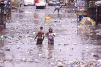 The downpour led to the flooding of several parts of Accra