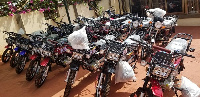 Abronye DC donated 24 motorbikes and GHC72,000 to all the twelve Constituencies