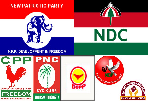 Some of the political parties in the country