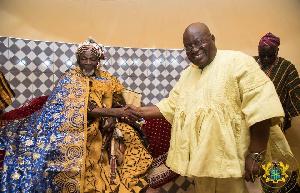 King of Dagbon, Ndan Ya Naa Abukari II and President Akufo-Addo