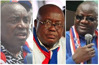 Kwabena Agyepong(Right), Nana Akufo-Addo(Middle), Paul Afoko(Left)
