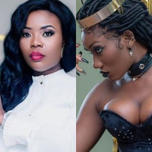 Presenter Delay and singer Wendy Shay