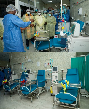 The donation was to stem the rising incidence of deaths due to lack of dialysis
