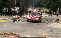 Several vehicles and motorbikes, among others, were destroyed by irate students of KNUST