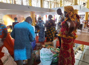 Holy Ghost Fire Hour Ministry International donated items to widows and orphans