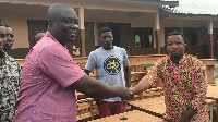 Headmaster of the school, Ernest Adzowu promised the furniture would be put to good use