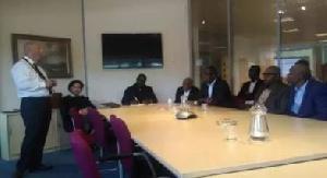 Mr Gaffney briefing the Ghanaian delegation