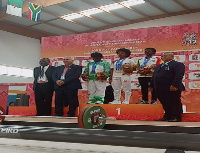 The weightlifting winners at the games