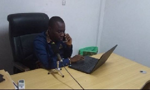 Atik Mohammed in his office at the party headquarters