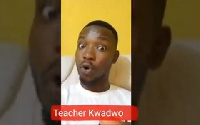 Teacher Kwadwo's humour has earn him popularity on several social media plaftorms