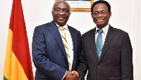 Dr. Bawumia and outgoing Pentecost Chair Prof. Opoku Onyinah