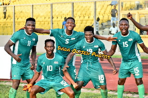 Burkina Faso players in jubilant mood