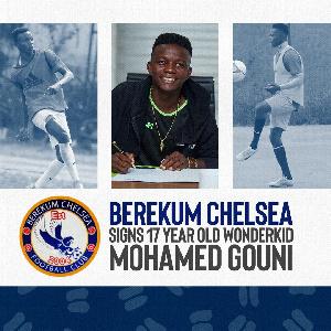 New Berekum Chelsea player Mohamed Gouni