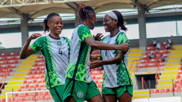 2022 Awcon Qualifiers: Nigeria 2-0 Ghana - Kanu\'s double earns Super Falcons comfortable win