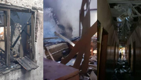 Late Aliu Mahama's Mafara Hotel burnt to ashes
