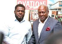 Bulldog with outgoing President John Dramani Mahama